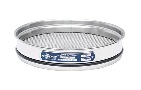 10 Stainless Steel Sieve by 200mm Sieve All Stainless Half Height 10mm Gilson Co