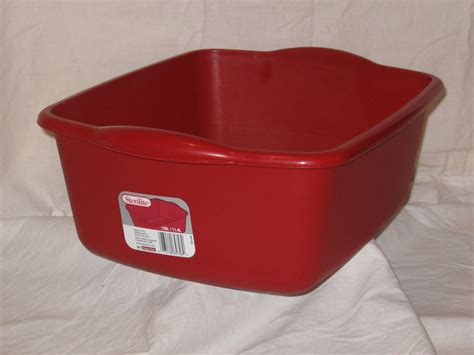 kitchen sterilite 12 qt plastic sink dish pan