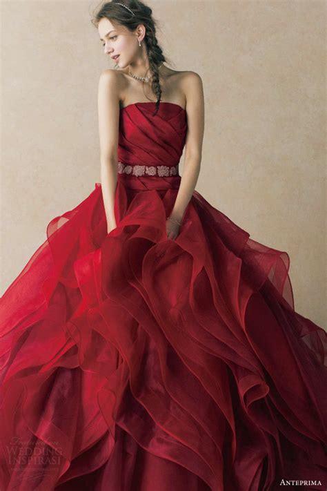 Rotes Hochzeitskleid by Anteprima Wedding Dresses Wedding Inspirasi