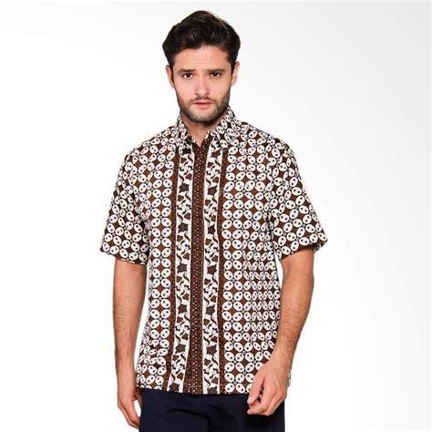 Baju Batik Kemeja Pria Slim Fit Modern Hes05 jual adiwangsa model slim fit modern baju kemeja batik pria 015 harga kualitas