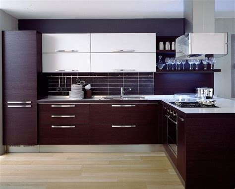 small minimalist kitchen with rosewood modern kitchen