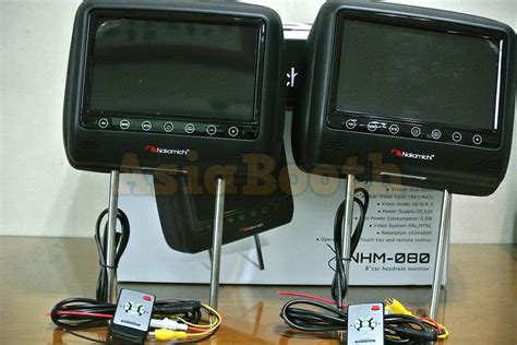 Headrest Monitor Nakamichi Nhm 080 Black nakamichi nhm 080 8 quot inch car headrest lcd tv monitor 2