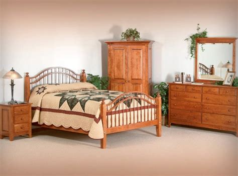 shaker bedroom set amish handcrafted solid hardwood
