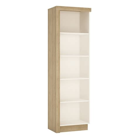 Lyon Bookcase Rh In Riviera Oak White High Gloss White Gloss Bookcase