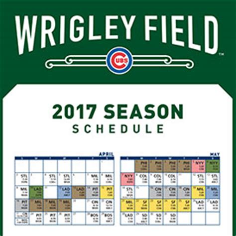 cubs schedule 2017 printable my