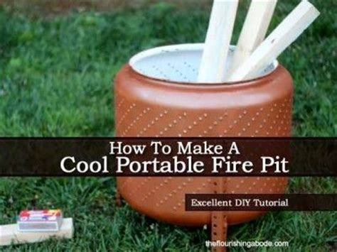 how to make a cheap fire pit in your backyard how to make a cool portable fire pit on the cheap diy
