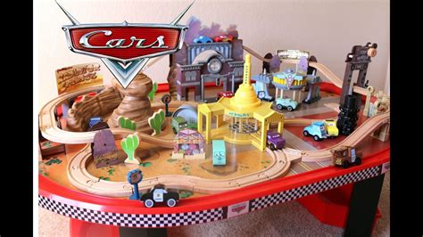 cars  radiator springs race track  train table wooden