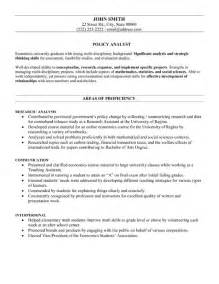 policy analyst resume template premium resume sles