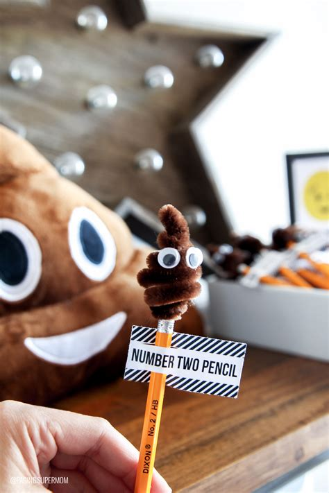 Lovely Office Christmas Party Games Ideas #4: Poo-Emoji-Number-2-Pencil-1.jpg
