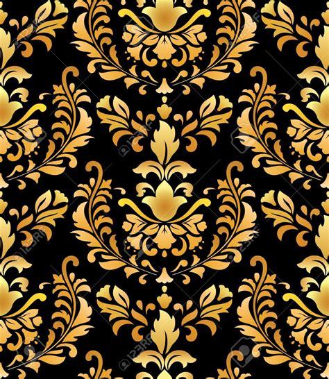 gold pattern floral black and gold wallpaper wallpapersafari