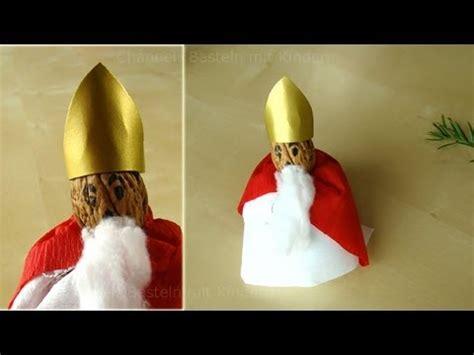 basteln mit kindergartenkindern advent nikolaus basteln weihnachtsmann basteln mit papier im