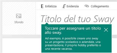 sway testo introduzione a sway supporto di office