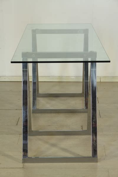 scrivania cristallo scrivania cristallo anni 80 tavoli modernariato