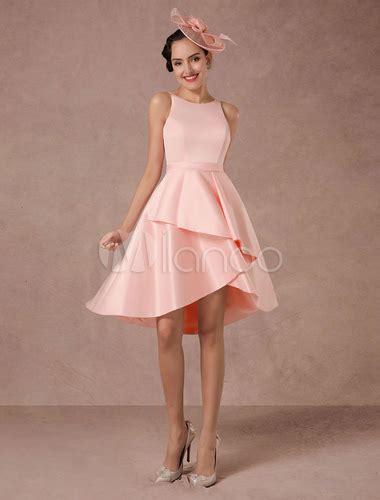 hochzeitskleid kurz rosa kurze hochzeitskleid rosa satin vintage sommer