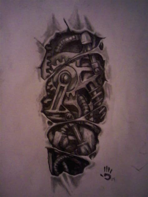 bio mechanical tattoo design bio mechanical design by str8twisted13x on deviantart