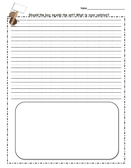 ant writing paper tales from 3rd grade ccss opinion writing squish the ant