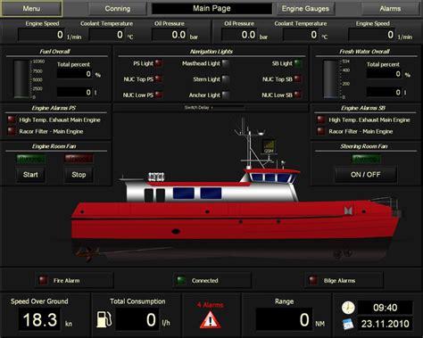 tekne elektrik panosu teknelerde alarm devrelerini tek bir ekrandan alarm