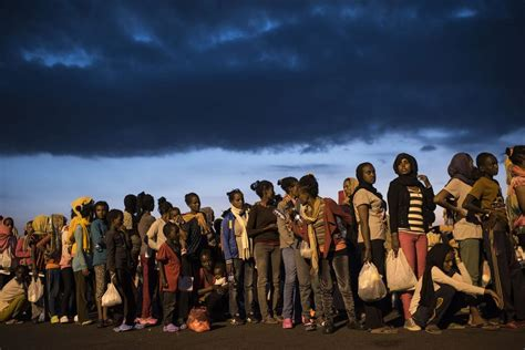 refugee boat sicily amid record waves of refugees italy finding limits to its