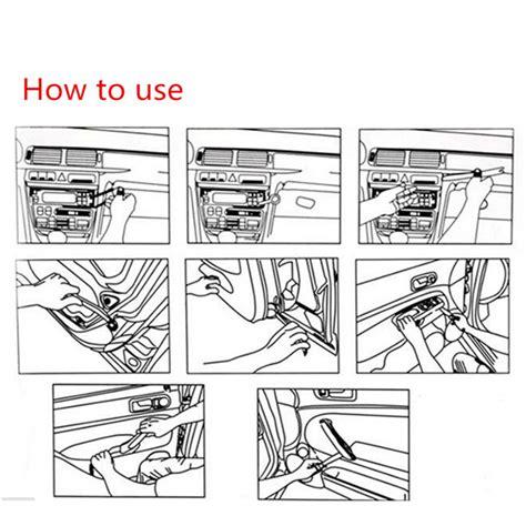 How To Pry A Door Open by 9pcs Car Dismantle Door Trim Panel Clip Lights Radio