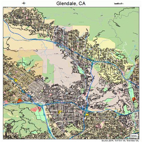 california map glendale glendale california map 0630000