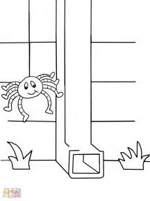 colouring pages incy wincy spider