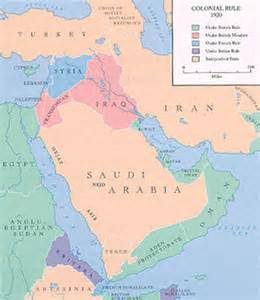 middle east map in 1920 middle east background