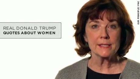 commercial woman quoting trump anti trump ad shows women reading trump comments cnn video
