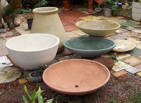 Wide Shallow Plant Pots Studios Pots And Fountains