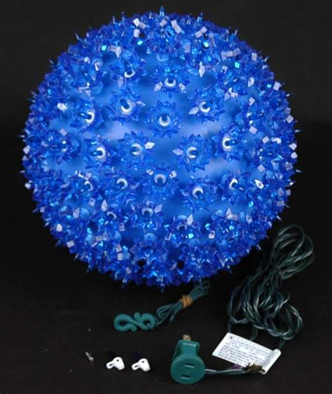 blue 10 quot starlight sphere 150 light christmas ball