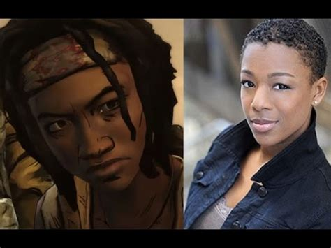 voice actress dead the voices of walking dead michonne voice actors and