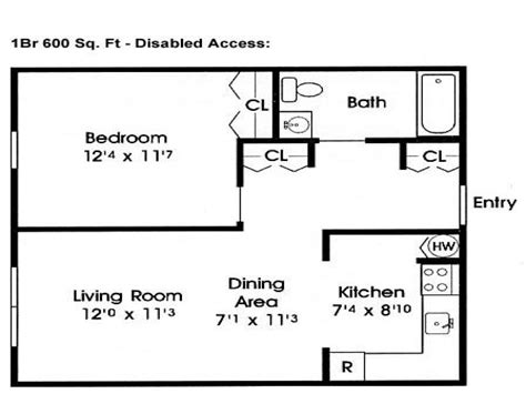 600 sq ft home floor plans 600 sf home floor plans 600