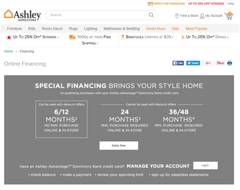 sofas on credit apply online ashley furniture credit card application online