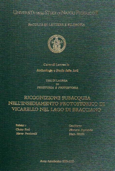 forum lettere moderne napoli pubblicazioni sul territorio tesi di laurea e dottorato