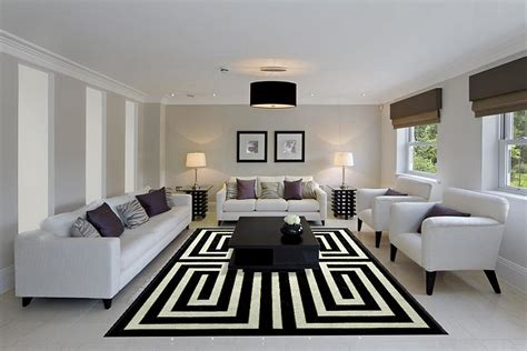 black living room rugs black and white living rooms design ideas