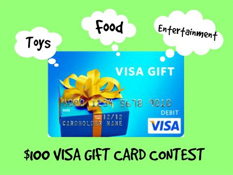Visa Gift Cards Kids - 100 visa gift card contest entertain kids on a dime
