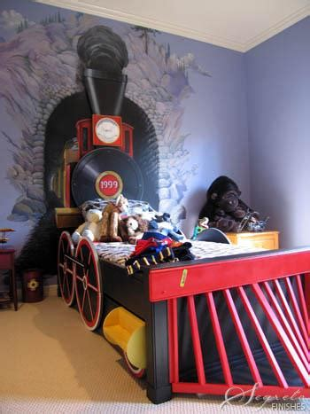 kids train bed diy train bedroom for kids the budget decorator
