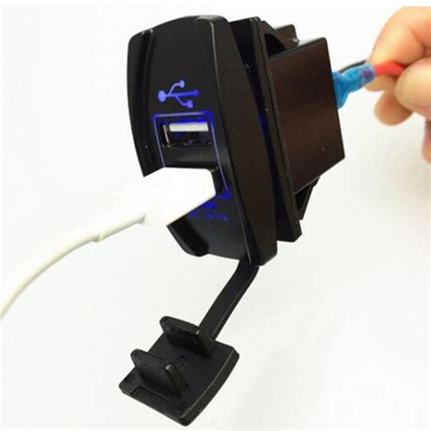 Murah Charge Motor 2 Port Usb Dc 12 24v 3 1a usb charger motor 2 port dc 12 24v black