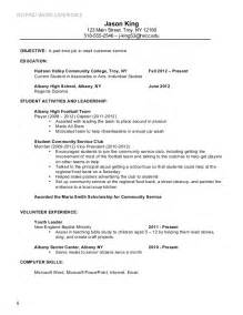 Resume Sle For Part Time by Resume