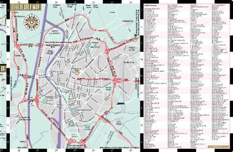 streetwise seville map laminated city center street map of seville spain streetwise