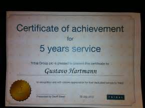 certificate for years of service template tribal awards service uk tribalingua