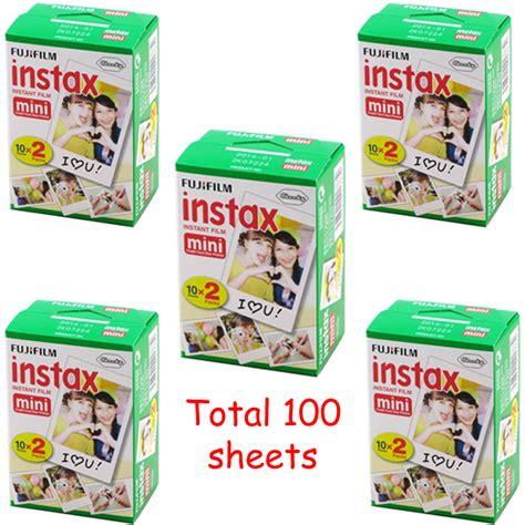 Fujifilm Instax Polaroid 50s White Free Bonus buy 100 sheet fujifilm fuji instax mini 8 instant 7s