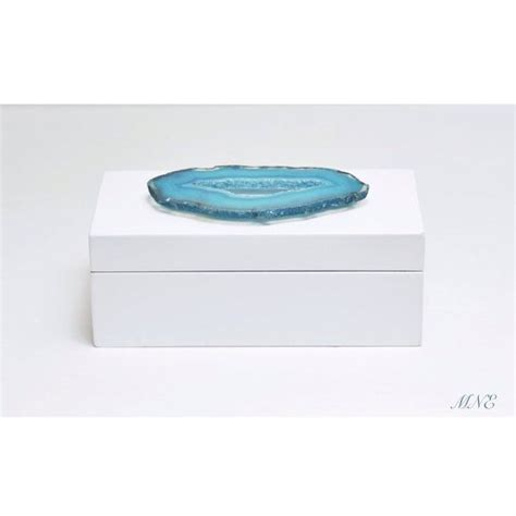 geode box white lacquered agate geode jewelry box