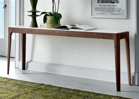 White Wood Coffee Table Porada Ziggy Console Table Porada Furniture At Go Modern