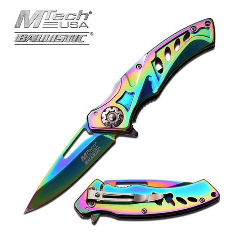 assisted open pocket knives mtech assisted open vibrant titanium pocket knife