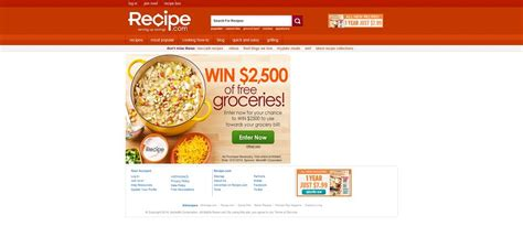 Recipe Com Sweepstakes - recipe com 2 500 grocery sweepstakes 2 500 to use towards your grocery bills