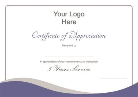 employee certificate of service template memorable service awards new brands