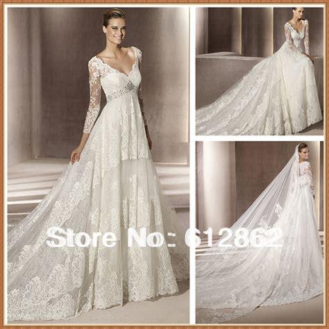 Wedding Dresses Empire Waist by Aliexpress Buy Empire Waist Sleeve