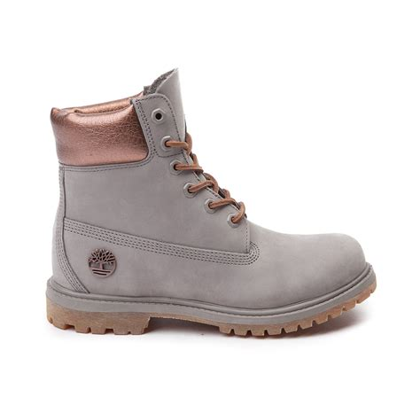 womans timberland boots womens timberland 6 premium luxe boot gray 538587