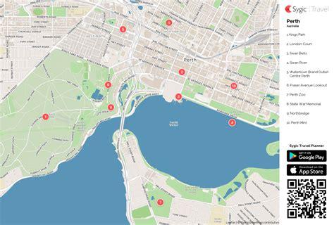 printable map perth city perth printable tourist map sygic travel