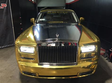 roll royce chrome tuningcars gold chrome rolls royce phantom